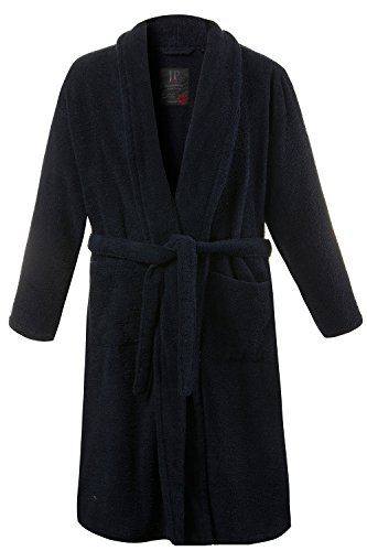 [JP 1880 Men's Big & Tall Soft Cotton Toweling Bathrobe Dressing Gown Dark Marine XXXXXX-Large 702388 76] (Tall Terry Cloth Robes)