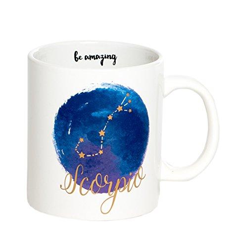 Scorpio Mug - Jumbo 22Oz Zodiac Mug Astrology Decor Constellation Mug For All Horoscopes Signs. Coffee Mugs For Women, Perfect Horoscope Gifts Mug With Quotes. Bpa Free Porcelain Mug By Ankit