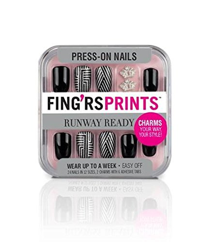Fingrs Fing'rsprints Pre-Glued Nails, Runway Ready Style Icon, 24 Count by Fing'rs