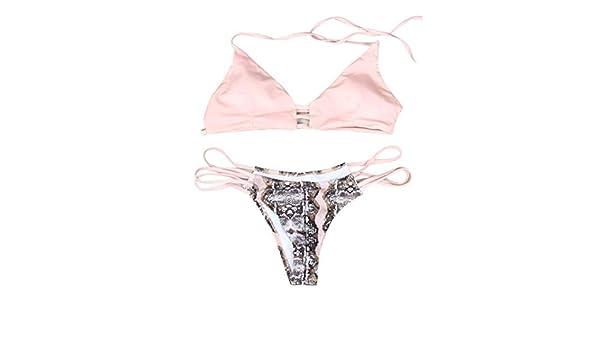 Amphia Bikini Sexy Mujer Traje De BañO, Womens Sexy Push-up Bikini Set Swimsuit Swimwear Traje de baño brasileño: Amazon.es: Ropa y accesorios
