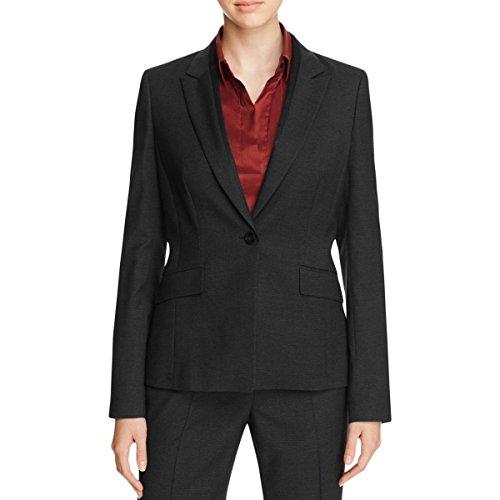 Hugo Boss Womens Long Sleeve Button Close Bomber Jacket Black - Boss Hugo Ladies