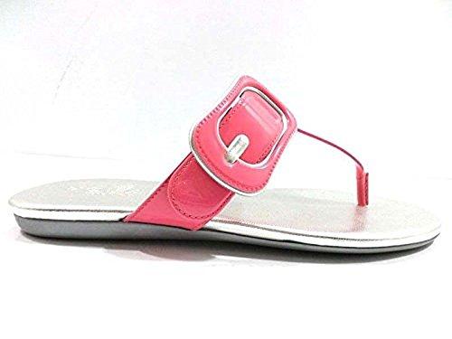 Zapatos Mujer HOGAN 35,5 EU Chanclas Charol Rosa WH81