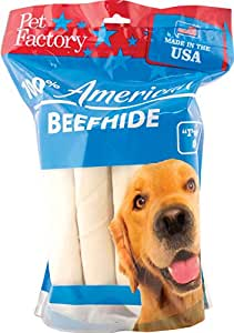 Amazon.com : PET FACTORY USA Value-Pack Beefhide 8-Inch