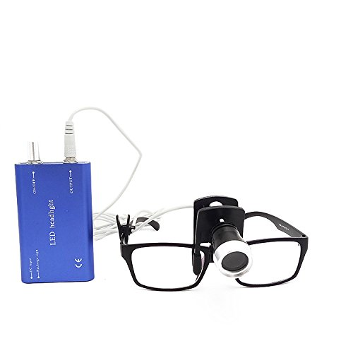 First Dental Surgical Headlamps Convenient Clip Type LED Headlight Suitable for All Medical Loupes Blue