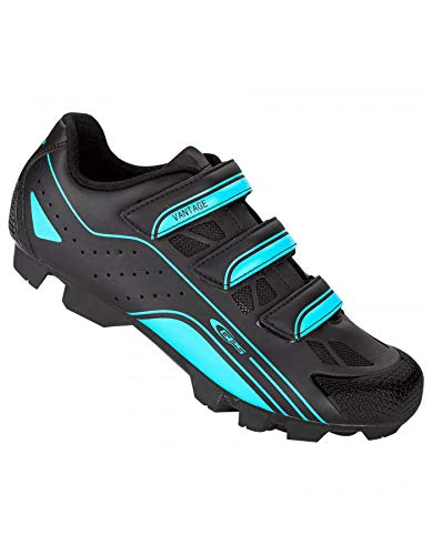 GES - Zapatos de Bicicleta de montaña Vantage Negro y Azul Sky T42 ...