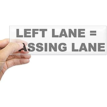 Cafepress left lane passing lane 10x3 rectangle bumper sticker car decal