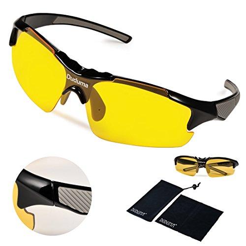 9cc6f70fd40 Duduma Yellow Night Vision Polarized Sunglasses Glasses for Driving Fishing  Shooting Multicolor Frame Uv400 (black