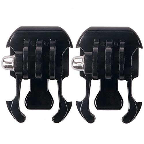 Quick Release for Gopro Hero Camera, 2pcs for 2X Black Buckle Basic Strap Mount Quick Release Buckle Clip Basic Installation ()