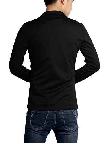 patte Blazer Allegra Classique Deux Homme Boutonnage Entaillé De Black Revers K rBHBnqWX