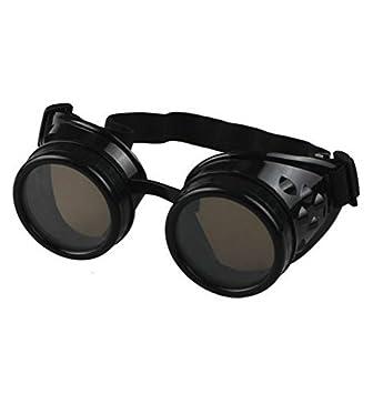 Vintage estilo rústico y Cyber Steampunk gafas gafas para el sol estilo victoriano Punk gótico soldadura negro: Amazon.es: Deportes y aire libre