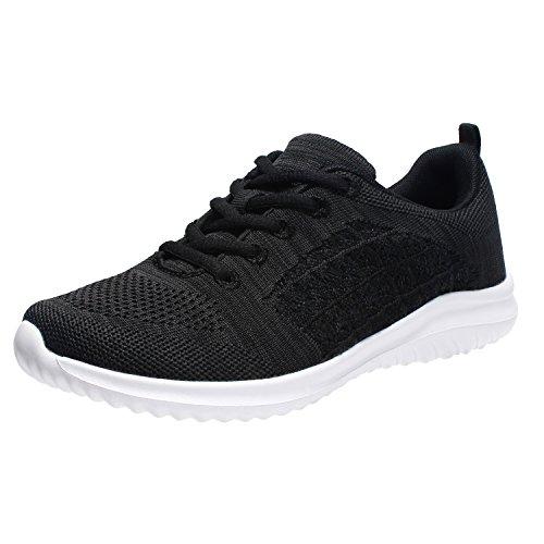 YILAN Women's Fashion Sneakers Casual Sport Shoes (8 B(M) US, Black-5) (Fashion Over 5)