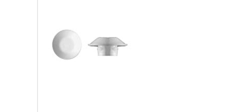 "50 1/4"" White Plastic Flush Type Hole Plugs 1/2"" Head"