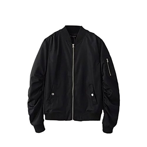 Work Classico Jackets Non padded 4 Bomber Loose Zhhlaixing Black Fit Colors Mens Coats 1qwFT
