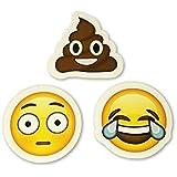 "15 Big Emoji Stickers | Each Over 2"" | Tears of Joy, Monkeys, Faces, Poo...| Set #3"