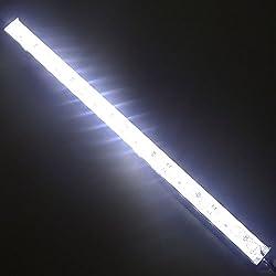 """LEDENET 12"""" 6500K-7000K White Super Bright 18LEDs 5050 Aquarium LED Strip Lighting for Fish Tanks - Waterproof Aluminum Lighting 12V DC LED Linear Bar Lamp (Cold White, 12"""" Long)"""