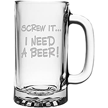 amazon com giant custom beer mug 28 ounces personalized beer stein