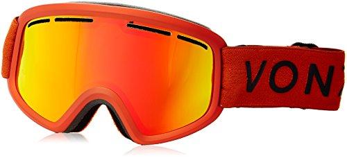 Von Zipper Trike - Veezee - Dba Von Zipper Trike Ski Goggles, Burnt Orange/Fire Chrome