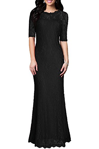 long black maternity bridesmaid dress - 7