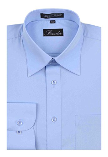 Basilio Men's Convertible Cuff Solid Dress Shirt - Many Colors Available