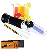 0-32% Brix Refractometer with ATC 10~30°C Sugar Content Level Solutions Meter Tester Tool 0.2% Resolution