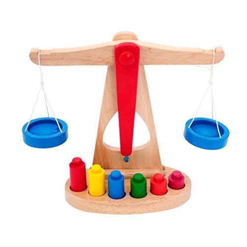 TOYANDONA Precisión de Madera del Juguete de la Escala del Equilibrio Que aprende los Juguetes educativos para los niños de...