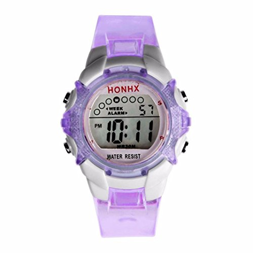 Gotd Waterproof Children Girls Digital LED Quartz Alarm Date Sports Wrist Watch ()
