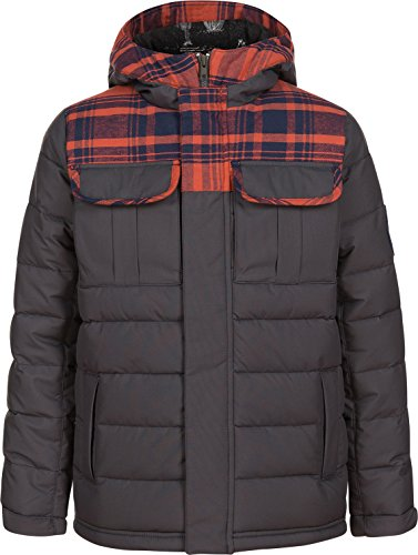 Oneill Snowboard Jackets (O'Neill Boys Charger Hood Jacket, Granite, Size 12)