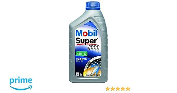Mobil 151181 Super 1000 X1 - Aceite semisintético de Motor (15W-40, 1 l): Amazon.es: Coche y moto