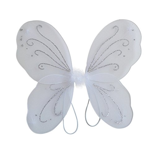 BOBORA Kid Girl Angel Fairy Wings Dress Party Costume Halloween Cosplay Costume (Angel Wings Halloween)