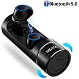Wireless Bluetooth Earbuds, iyesku YK-T08 Bluetooth V5.0 Wireless Headphones with 15H Playtime Touch Control Auto Pairing 3D Stereo Sound Binaural Mic, in-Ear Mini Earbuds