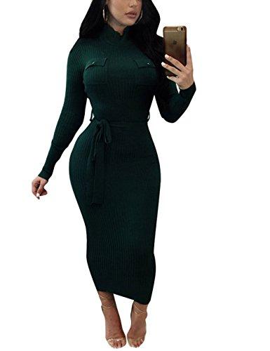 Belt Sweater Dress - 9