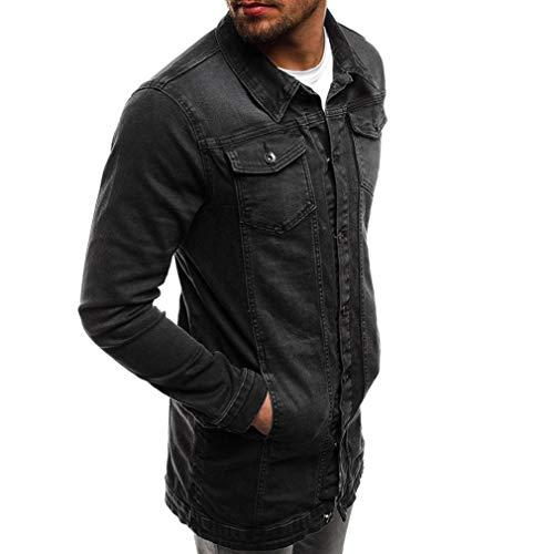 Automne Hiver Noir Jean Manches Veste Vieilli En Vintage Top Outwear Malloom Manteau Hommes Longues drwAd4