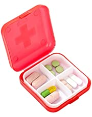 4 siatki pojemnik na leki mini plastikowy dozownik kratowy przenośny rozdzielacz biżuterii pudełko do przechowywania dom podróżny pojemnik na leki