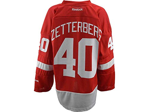 (NHL Reebok Detroit Red Wings #40 Henrik Zetterberg Youth Red Replica Hockey Jersey (Large/X-Large))
