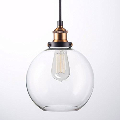 Blown Glass Globe Pendant Light - 2