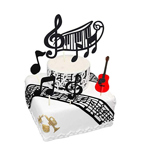 - Cake Topper, Music Notes Cake Toppers, Musical Notes Acrylic Cupcake Topper Decoration Tools Party Supplies for Birthday Party Baby Showers Party
