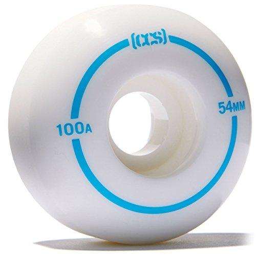CCS Skateboard Wheels - Multiple Colors (White, 54mm) ()