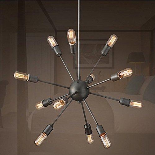 29.5 Inch Creative Industries Loft Hanging Lamp for Dining Room Bedroom Living Room Warehouse Satellite (12 lights)