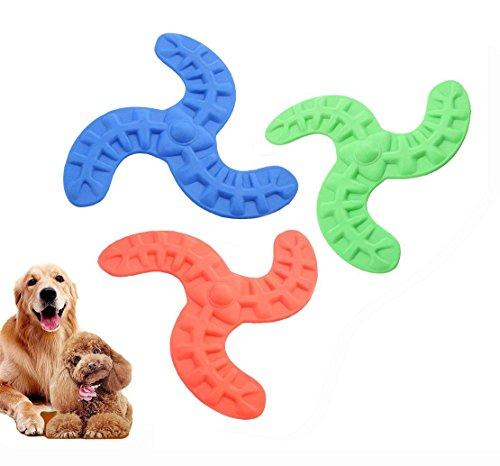 iPetoo Dog Frisbee Toy, 3pcs Pet Boomerang Toy, Soft Flexibl