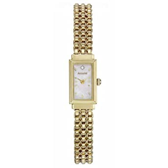 Ladies Accurist 9ct Gold Diamond Watch GD1610 Amazoncouk Watches