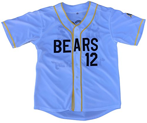 MVG ATHLETICS Bad News Bears Movie Baseball Jersey #12 Embroidered S-XXL (Large)