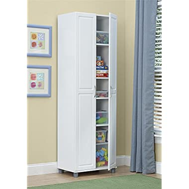 SystemBuild Kendall 24  Storage Cabinet, White Stipple