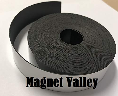 Dry Erase White Magnetic Strip Roll 3'' x 100' Write on / Wipe off Magnet by Magnet Valley