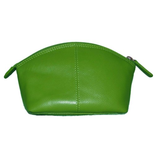 - ili New York 6480 Leather Cosmetic Makeup Case (Emerald)
