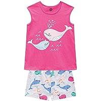 Pijama Infantil Menina Blusa Short Meia Malha Brandili Pink