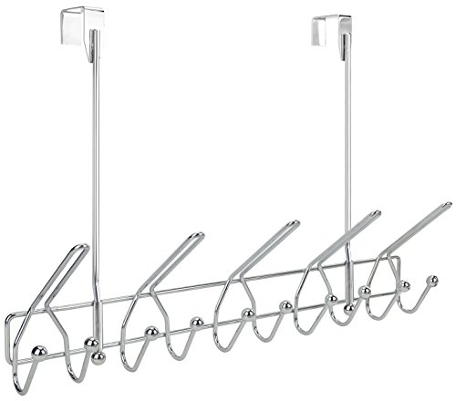 Surpahs Heavy Duty Over The Door 15 Hooks Organizer Rack, Chrome Finish