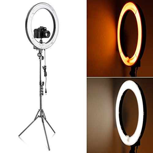"""Amazon Lightning Deal 83% claimed: Neewer® Camera Photo Studio 18""""Outer 14""""Inner 600W 5500K Dimmable Ring Fluorescent Flash Light Kit for Portrait,Fashion Photography and Video Shooting"""