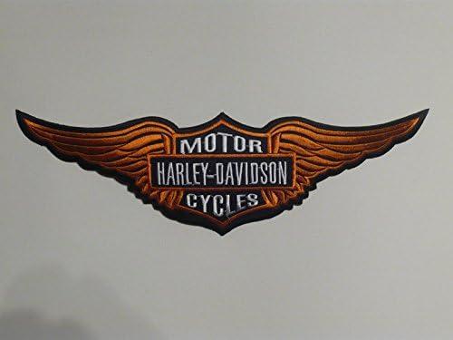 � Parche para planchar Harley Davidson aprox. 29 x 9 cm águila Eagle Sportster Shield Moto Motocicleta Club