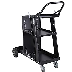 Giantex Welder Welding Cart Plasma Cutter MIG TIG ARC Universal Storage for Tanks from Giantex