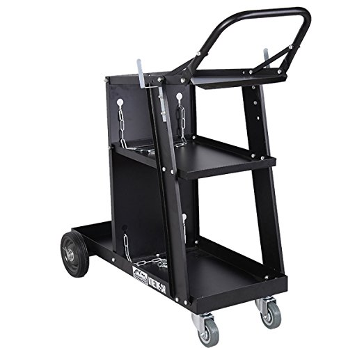 Giantex Welder Welding Cart Plasma Cutter MIG TIG ARC Universal Storage for Tanks